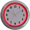 "15"" Red Neon Chrome Clock"