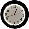 "15"" White Neon Black Rim Clock"