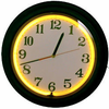 "15"" Yellow Neon Black Clock"