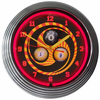 "15"" Billiards 1, 8, 9 Neon Clock"