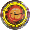 "15"" 9-Ball Fire Neon Clock"