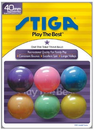 Stiga One-Star Multi Color Table Tennis Balls (Pack of 6)