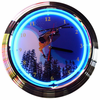 "15"" Skiing Neon Clock"