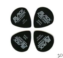 D'Addario Black Ice (Jazz) Guitar Picks Medium Gauge 10-Pack, 3DBK4-10