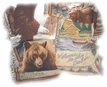 Lake Cabin Tapestry Throws