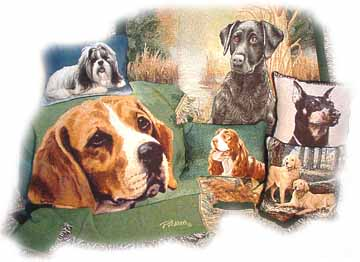 Dog Tapestry Throw Blankets
