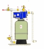 Hydro-pneumatic Jet System 3 to 4 Bathrooms, 1 HP, 30-50 PSI,  115/ 230 Volts