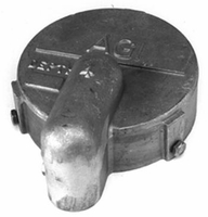 "Cast Aluminum Well Cap with Conduit Opening 5"" # C5 (B)"