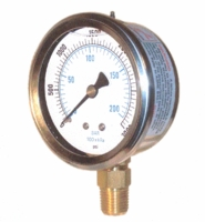 "Stainless Steel Compound Gauge 2.5"" Liquid Filled 30""-30 PSI # 201L-254CC (C)</font><br>"