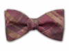 "Bow Tie ""Burgundy Plaid"""
