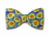 "Bow  Tie "" Sunflower on Blue """