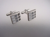 Silver and Black Gradient Cufflinks
