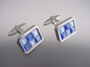 Blue Cat's Eye Cufflinks