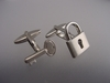 Key and Padlock Cufflinks