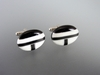 Inlaid Natural Onyx & Bone Cufflinks