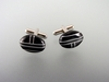 Inlaid Natural Onyx Cufflinks