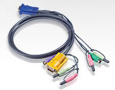 Aten MasterView Max 6' PS/2 KVM Cable w/Audio