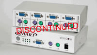Minicom Supervisor Smart 4-Port KVM Switch with Cables