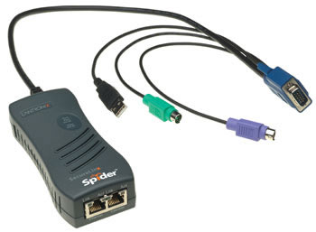 Lantronix SecureLinx Spider 1 Port PS/2 & USB KVM Over IP Switch