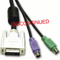 10' PS/2 DVI KVM Cable