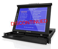 Belkin 17'' LCD Rack Console with 8-Port KVM Switch, Dual-Rail Technology