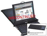 1U 15Inch LCD Rackmount Monitor Keyboard Drawer notebook keyboard w/ touchpad