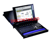 2U 15Inch LCD Rackmount Monitor Keyboard Drawer w/ 16-Port PS/2 KVM Switch