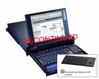 2U 15Inch LCD Rackmount Monitor Keyboard Drawer w/ 2-Console 8-Port PS/2 KVM Switch