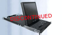 "Rose RackView 19"" Rackmount LCD with Trackpad w/ 4-Port KVM & Cables"