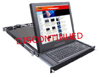 "Rose Electronics RackView, 2U KVM Drawer, 15"" LCD, PS/2 Keyboard + Trackball"
