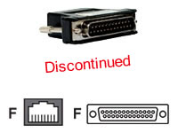 Avocent 8-Wire RJ-45 To DB25 Female Adapter