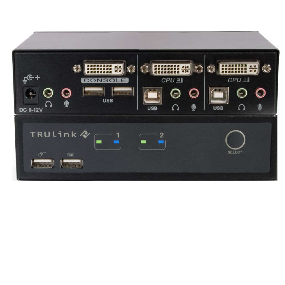52088 Cables To Go Trulink 2 Port Dvi And Usb Kvm With Audio Way Switch Click Enlarge