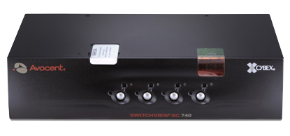 Avocent SC740 Secure Dual Monitor DVI / VGA KVM Switch, 4 Port, with Audio - 2K (2560x1600 ) resolution