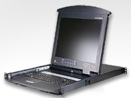 Aten 17Inch LCD Rackmount Console with Integrated 8-port KVM over IP