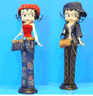 """Betty Boop jewelry holder blue jeans 12"""""""