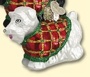 Old World Christmas Scotty dog ornament