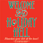 Apron Holiday  red apron Abandon your diet at the door