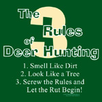 Funny green sale apron 3 rules of deer hunting