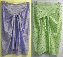 Miraclesuit sale polka dot Pareo periwinkle or lime  with black dots S to L