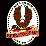 funny apron black born to Grill /    eat to live     Live to Eat