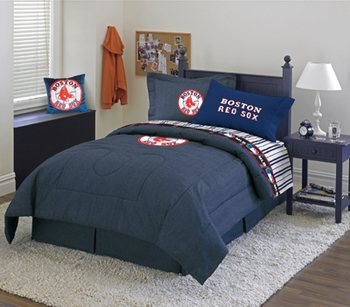 Boston Red Sox Denim Comforters and Home Decor. Boston Red Sox Bedding  Red Sox Comforter  Boston Red Sox Sheets