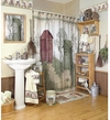 OUTHOUSES  Shower Curtain