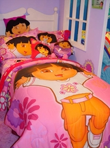 Dora What A  Day To Explore Bedding for Girls