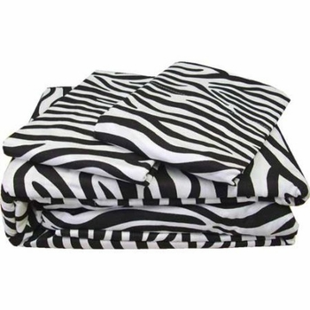 Zebra Print Pillowcases 200 Thread Count