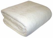 Martex SuperSoft TWIN IVORY Plush Blanket