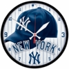 "New York Yankee Cap 12.75"" Wall Clock"