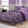 Zebra Purple Bed In A Bag Set-CHF-Queen Size