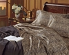 Leopard Satin Twin Size Comforter Set