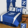 TAMPA BAY LIGHTNING Queen or King Bedskirt-Sidelines