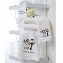Bride & Groom Towel Gift Set